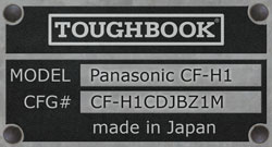 Panasonic Toughbook CF-H1 Field