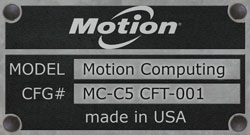 Motion Computing MC-5 CFT-001