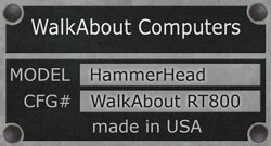 WalkAbout HammerHead RT800